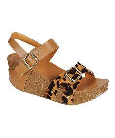 Look at this #zulilyfind! Leopard Lalasa Platform Wedge #zulilyfinds