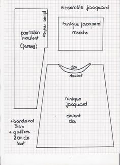 Tuto tunique- pantalon Lovely blog with many good ideas and patterns. Between Google Translate and my high school French, I can manage!
