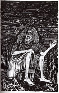 John Vernon Lord for Rosemary Sutcliff's Sword at Sunset, Edito-Service Geneva, 1975 John Vernon, Historical Fiction, Macabre, The Guardian, Old Women, Printmaking, Illustrators, Fairy Tales, Lord