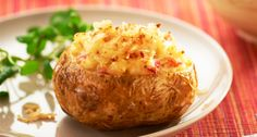 Try our Stuffed Jacket Potatoes #recipe with Sweetcorn and Peppers using the #Breville® #Halo+ Health Fryer. Serve with a fresh, crispy #salad and coleslaw.