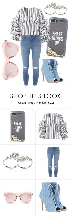 """""""Expensive Taste"""" by angelaedmund ❤ liked on Polyvore featuring Kate Spade, Caroline Constas, Apples & Figs, Dorothy Perkins, Karen Walker and Gianvito Rossi"""