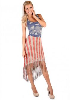 American Flag Draping Maxi | Hottie World