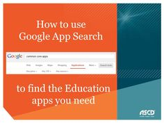 How to use Google app search to find the right education apps