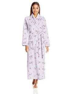 Carole Hochman Womens Diamond Quilted Long Robe Flowers Pale Lotus Large >>> Check out the image by visiting the link.
