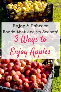 Fall is a beautiful season. Check out 3 ways to cook with apples this year. Our mountain getaway turned into an apple fest for the next week in our home. ;)