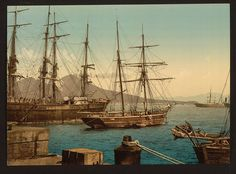 [Ships in the harbor, Naples, Italy] (LOC) | Flickr - Photo Sharing!