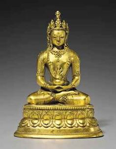 A Bronze figure of a Bodhisattva Mongolia, Zanabazar School, 17th century 8 ½ in. (21.5 cm.) high