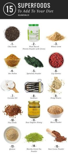 15 Superfoods To Add To Your Diet by ^ kristen ^