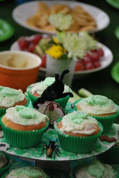 Green Party, Snail, Cool Kids, Cupcakes, Action, Desserts, Food, Tailgate Desserts, Cupcake Cakes