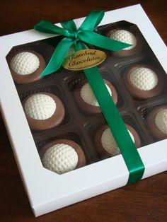 9 Piece White Box of Milk Chocolate Dipped by rosebudchocolates