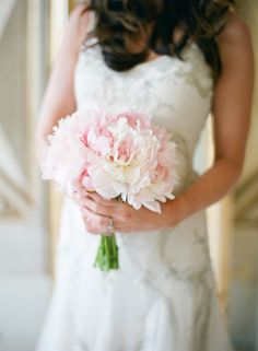 Bundled pink peonies #bouquet | Photography: Polly Alexandre