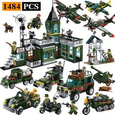 Enlighten Bricks Knights Series Bundle Set A 643 Pieces