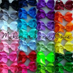 Check out this item in my Etsy shop https://www.etsy.com/listing/210224810/mini-boutique-bows-complete-set-of-all