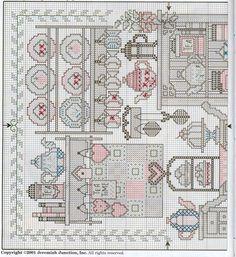 Schema punto croce Teatime Sampler 02
