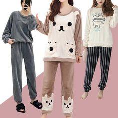 Gmarket - Winter/SLEEPWEAR Fleece Pajamas, Pyjamas, Couple Shirts, Pajama Set, Graphic Sweatshirt, Sweatshirts, Winter, Sweaters, Tops