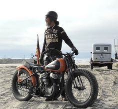 Sushi on the beach. Atsushi Yasui with his H-D WR at #TheRaceOfGentlemen…