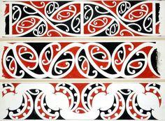 Williams, Herbert William :Designs of ornamentation on Maori rafters. Mehndi, Henna, Maori Designs, Maori Art, Thai Tattoo, Maori Tattoos, Tribal Tattoos, Maori Legends, Maori Symbols