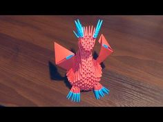 3D origami dragon with wings tutorial 2