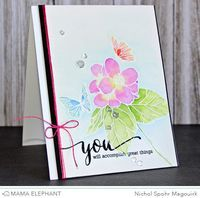 Nichol Spohr Magouirk: Mama Elephant March Stampede | Butterfly Kisses Card + Giveaway