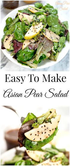 Easy To Prepare - 5 Minute Asian Pear Salad! Just a few simple fresh ingredients will put this fit-fabulous salad on your dinner table in 5 minutes.