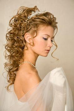 One of the favorite hairstyles bride wedding hair styles usually are wedding hairstyles long curly hair. Wedding Hairstyles For Girls, Prom Hairstyles For Long Hair, My Hairstyle, Long Curly Hair, Bride Hairstyles, Curly Hair Styles, Greek Hairstyles, Grecian Hairstyles, Updos For Curly Hair