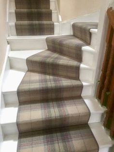 Fabulous installation of Axminster carpets Myth and Moor tartan we fitted a few years back The carpet was dry laid prior to fitting then bound down the sides then fitted as runners on the stairs. Fitted by the carpet emporium #stairs #staircase #tartan #stairway #homeideas #carpet #masterfitting #carpets #flooring #stairrunner #axminstermythandmoor #plaid #axminster