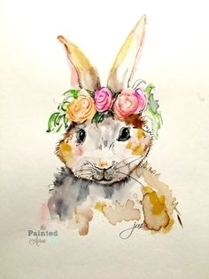 Fearless Friday, Bunnies, 3 Ways | The Painted Apron Watercolor Animals, Watercolor Paintings, Watercolors, Easter Paintings, Owl Paintings, Fearless Friday, Art Pad, Bunny Painting, Art Inspiration Drawing