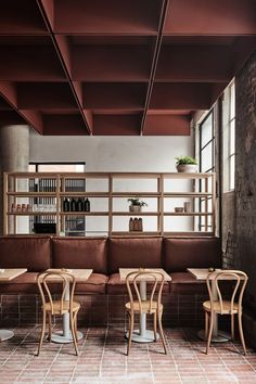 Ideas For Design Restaurant Modern Ceilings Banquette Restaurant, Deco Restaurant, Restaurant Seating, Restaurant Design, Restaurant Ideas, Melbourne Cafe, Melbourne Australia, Cafe Seating, Floor Seating