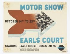 Poster, Motor Show, Earls Court, 1937   hbns   Visits   Collection of Cooper Hewitt, Smithsonian Design Museum