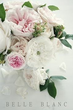 ~ Divine.  Peonies and cabbage roses are so romantic. I LOVE this for me- can we get cabbage roses and peonies just for me!