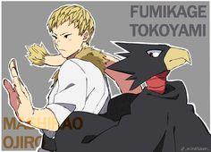 Ojiro Mashirao and Tokoyami Fumikage Buko No Hero Academia, My Hero Academia Memes, My Hero Academia Manga, Tokoyami Boku No Hero, Anime Family, Funny Scenes, Another Anime, Character Development, Boku No Hero Academy