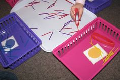 Using tongs and tweezers for a fine motor game to build strength and fine motor skills #Finemotordevelopmentgameforkids