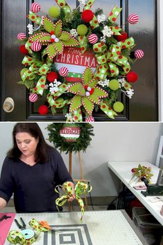 This Christmas Wreath Bow DIY was taught in our Wreath Making of the Month Club online class teaching the art of wreath making. Learn to make wreaths for all seasons and holidays for home or to sell by Southern Charm Wreaths. Click the title to get started.