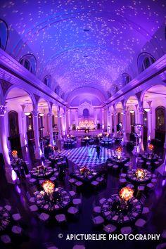 blue purple wedding