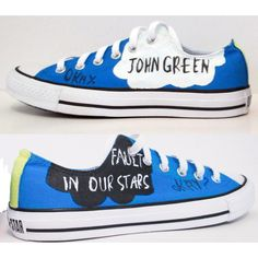 The Fault In Our Stars Handpainted Converse Shoes with Quotes ($100) found on Polyvore << WANT!!!!!