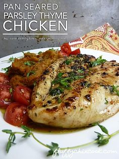 Pan Seared Chicken with Parsley and Thyme Recipe