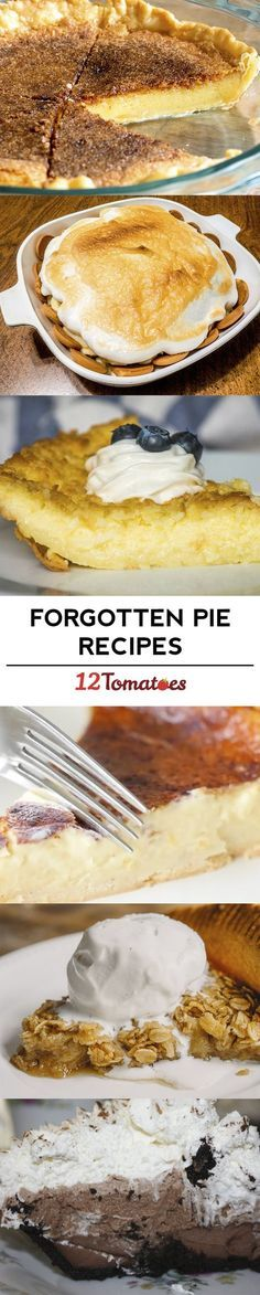 Bring Back These 8 Forgotten Pie Recipes! Tart Recipes, Sweet Recipes, Baking Recipes, Just Desserts, Delicious Desserts, Yummy Food, Pie Dessert, Dessert Recipes, Just Pies