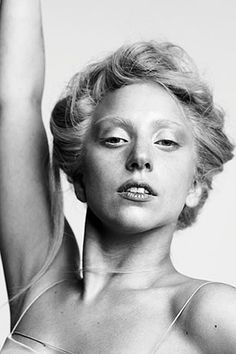 Lady GaGa, without all the make-up.  She's got sort of a stunning vaguely Swedish thing going on.  Well done, GaGa.