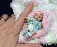 inch ooak clay baby girl by Brenda Scott Barbie Kids, Barbie Doll House, Barbie Dolls, Newborn Baby Dolls, Cute Baby Dolls, Reborn Toddler Girl, Reborn Babies, Baby Doll Furniture, Biscuit