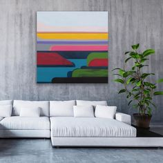 """Landscape series #6 .............................. Acrylic on canvas 30"""" x 30"""" Kara, Tapestry, Landscape, Canvas, Home Decor, Hanging Tapestry, Tela, Tapestries, Scenery"""