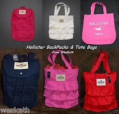 hollister+book+bags+for+girls   Hollister by Abercrombie Backpack Rucksack Book Bag Tote Shop Beach ...