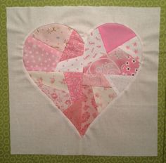 Fun to make! Heart quilting block