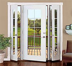 Vented Patio Doors--because what's the point of a window that won't open? Vented Patio Doors--because what's the point of a window that won't open? House, Home, Remodel, House Exterior, New Homes, Exterior Doors, Patio Doors, French Doors Patio, Doors