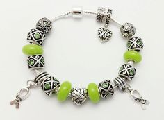 Check out this item in my Etsy shop https://www.etsy.com/listing/196245450/lime-green-charm-bracelet-lymphoma
