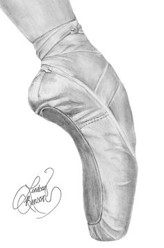pointe shoes  Beautiful  sketch, want to attempt to draw this!