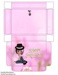 Happy Birthday Gift Box on Craftsuprint - Add To Basket!
