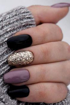 50 Fabulous Free Winter Nail Art Ideas 2019 – Page 19 of 53 – womenselegance. co… 50 Fabulous Free Winter Nail Art Ideas 2019 – Page 19 of 53 – womenselegance. co…,Nails 50 Fabulous. Cute Acrylic Nails, Cute Nail Art, Beautiful Nail Art, Acrylic Gel, Acrylic Nail Designs Glitter, Black Gel Nails, Red Nail, Acrylic Nails Autumn, Black And Purple Nails