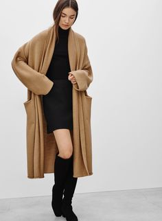 Pinning because it's okay to wear a brown sweater over black.