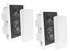 Ceiling Wall Mount Enclosed Speaker - 400 Watt Stereo In-wall / In-ceiling Enclosed Full Range Deep Bass Speaker System - Frequency Response, Ohm, Flush Mount - Pyle - Cool Electronics In Wall Speakers, Ceiling Speakers, Stereo Speakers, Wireless Speakers, Home Theater Sound Bar, Home Theater Speakers, Home Theater Seating, Speaker System, Audio System