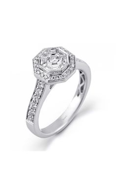Vintage style... different but kind of like it. Simon G Engagement Rings MR2152 | Elizabeth Diamond Company